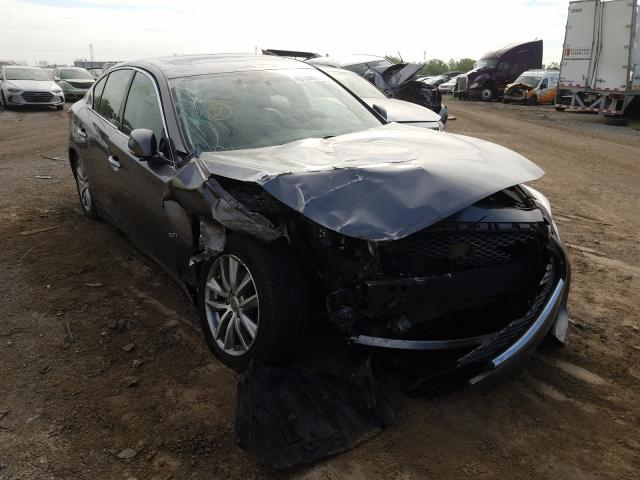 Salvage cars for sale from Copart Chicago Heights, IL: 2017 Infiniti Q50 Premium