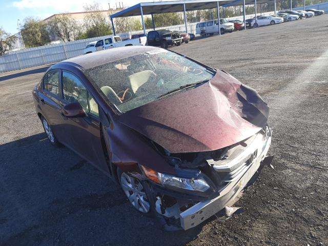 Salvage cars for sale from Copart Las Vegas, NV: 2012 Honda Civic LX