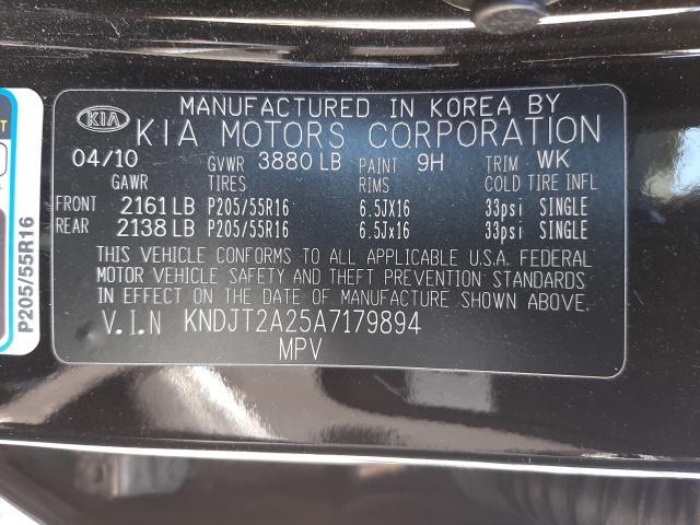 2010 KIA SOUL + KNDJT2A25A7179894