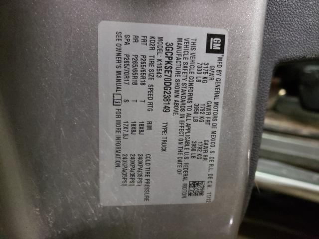 2013 CHEVROLET SILVERADO 3GCPKSE70DG238149