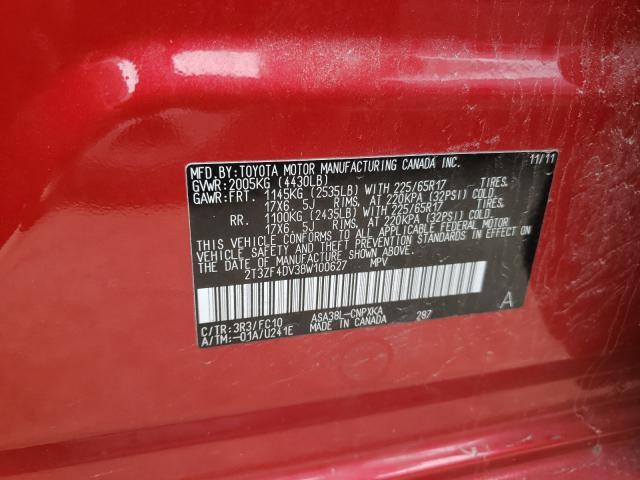 2011 TOYOTA RAV4 2T3ZF4DV3BW100627