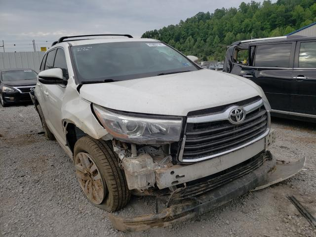 Salvage cars for sale from Copart Hurricane, WV: 2015 Toyota Highlander