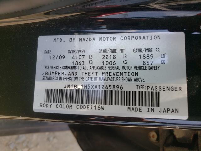 2010 MAZDA 3 S JM1BL1H5XA1265896