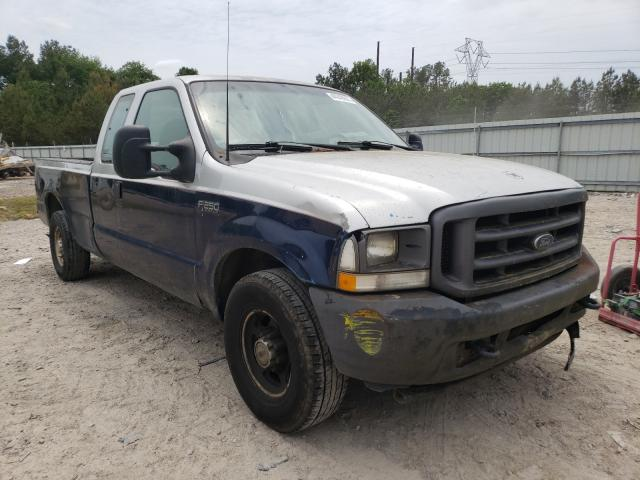 Salvage cars for sale from Copart Charles City, VA: 2003 Ford F250 Super