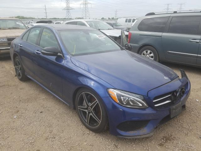 Salvage cars for sale from Copart Elgin, IL: 2018 Mercedes-Benz C 300 4matic
