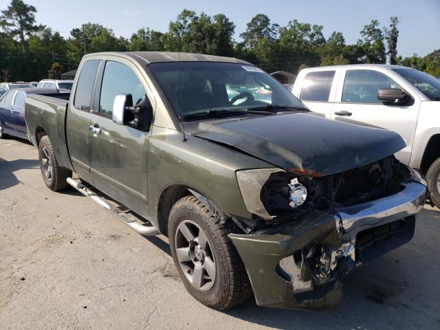 Salvage trucks for sale at Savannah, GA auction: 2005 Nissan Titan XE
