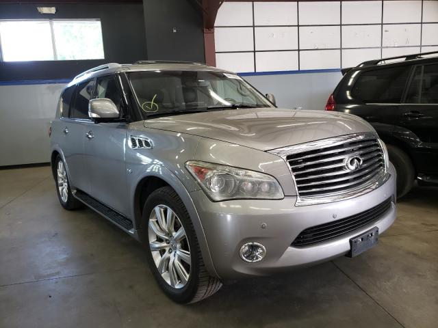 Salvage cars for sale at East Granby, CT auction: 2014 Infiniti QX80