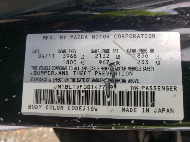2011 MAZDA 3 I JM1BL1VF0B1477995
