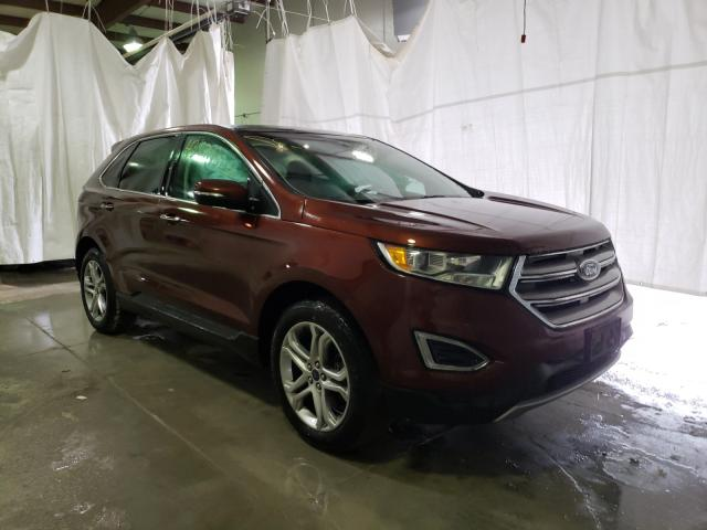 Salvage cars for sale from Copart Leroy, NY: 2015 Ford Edge Titanium