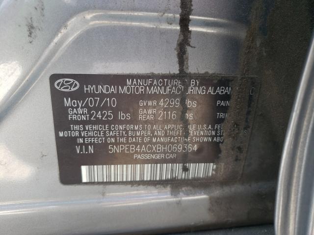 2011 HYUNDAI SONATA GLS 5NPEB4ACXBH069364