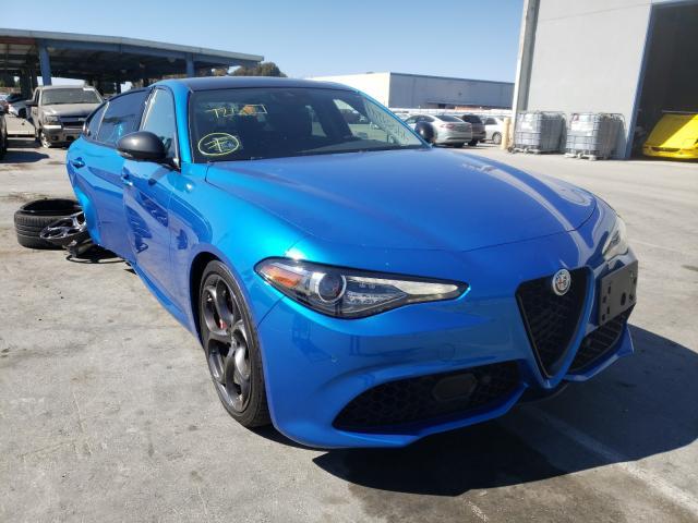 Salvage cars for sale from Copart Hayward, CA: 2019 Alfa Romeo Giulia TI