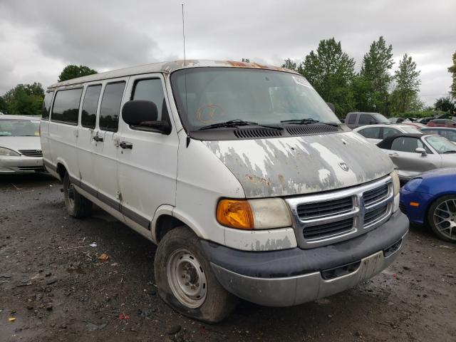 Salvage cars for sale at Portland, OR auction: 2002 Dodge RAM Wagon