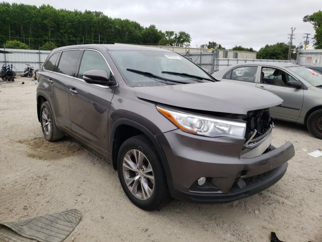 Salvage cars for sale from Copart Hampton, VA: 2015 Toyota Highlander