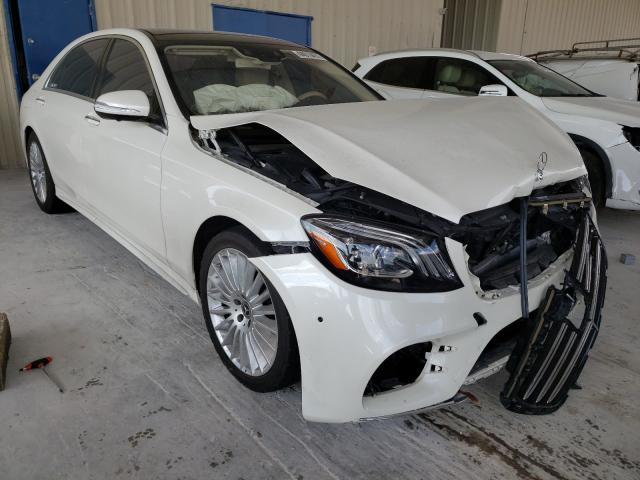 Salvage cars for sale at Homestead, FL auction: 2018 Mercedes-Benz S 450