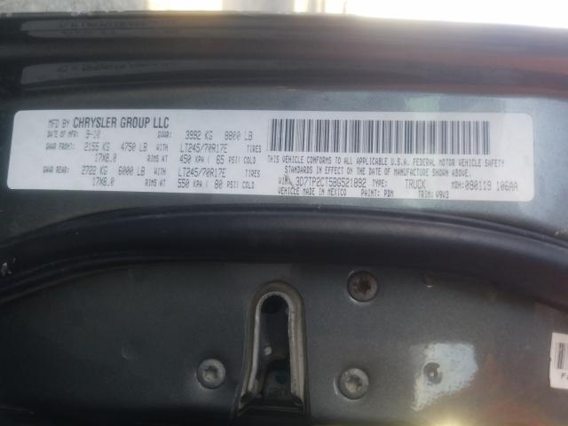 2011 DODGE RAM 2500 3D7TP2CT5BG521892