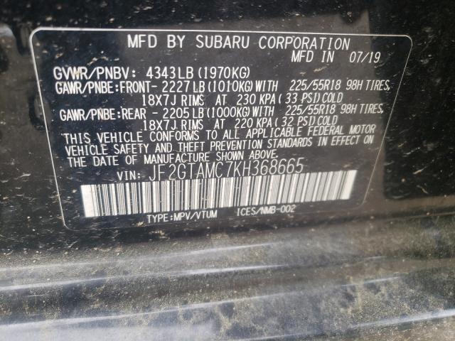 2019 SUBARU CROSSTREK JF2GTAMC7KH368665