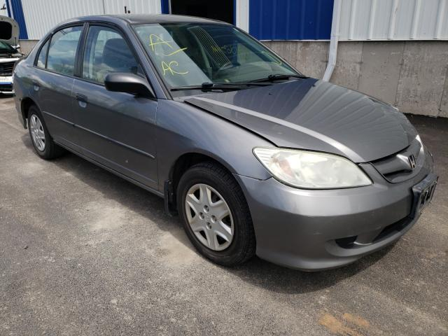 Salvage cars for sale from Copart Atlantic Canada Auction, NB: 2005 Honda Civic DX V