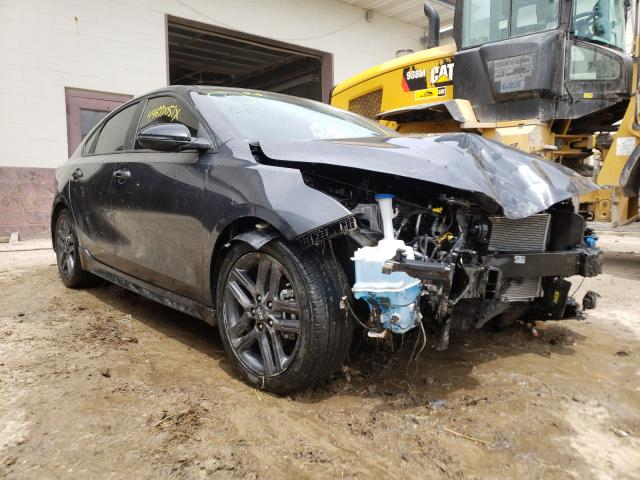 Salvage cars for sale from Copart Indianapolis, IN: 2021 KIA Forte GT L