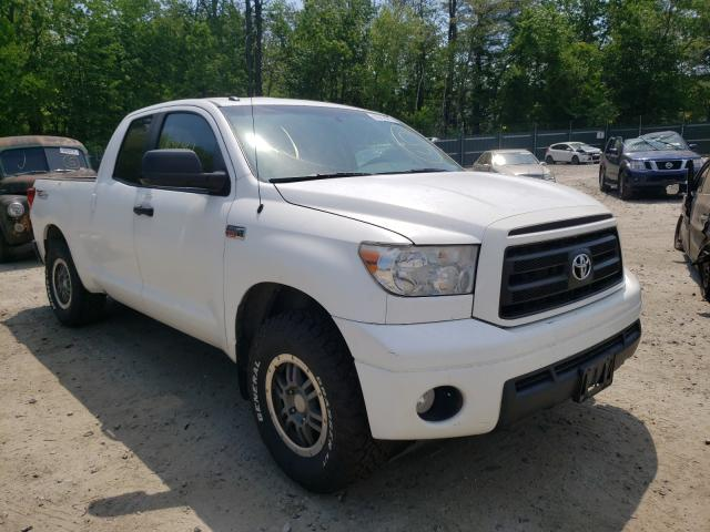 Salvage trucks for sale at Candia, NH auction: 2010 Toyota Tundra DOU