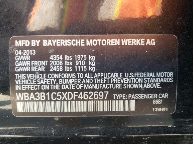 2013 BMW 320 I WBA3B1C5XDF462697