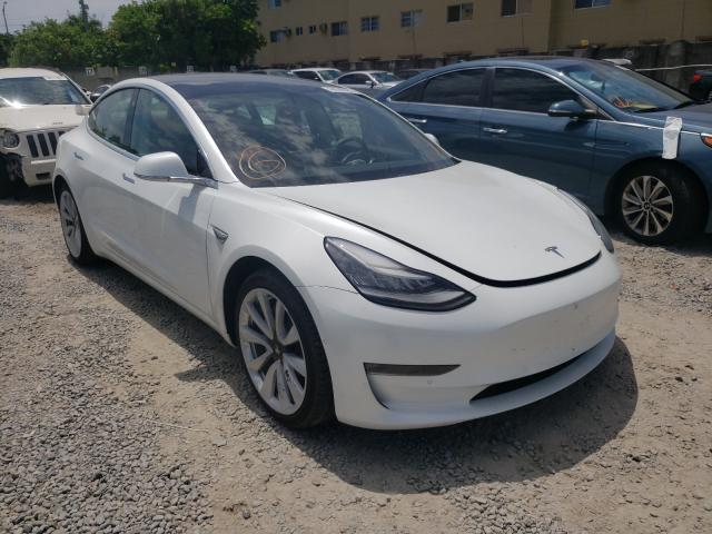 Salvage cars for sale from Copart Opa Locka, FL: 2019 Tesla Model 3