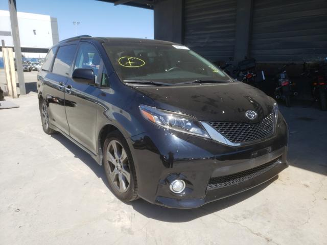 Salvage cars for sale from Copart Hayward, CA: 2017 Toyota Sienna SE