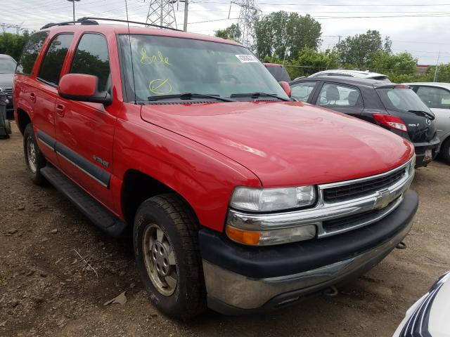 Salvage cars for sale from Copart Wheeling, IL: 2002 Chevrolet Tahoe