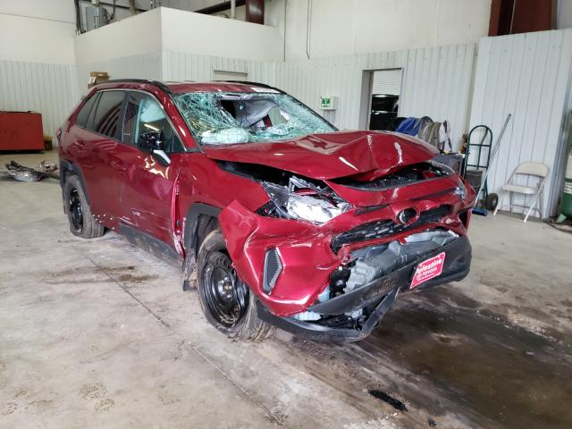Salvage cars for sale from Copart Lufkin, TX: 2021 Toyota Rav4 LE