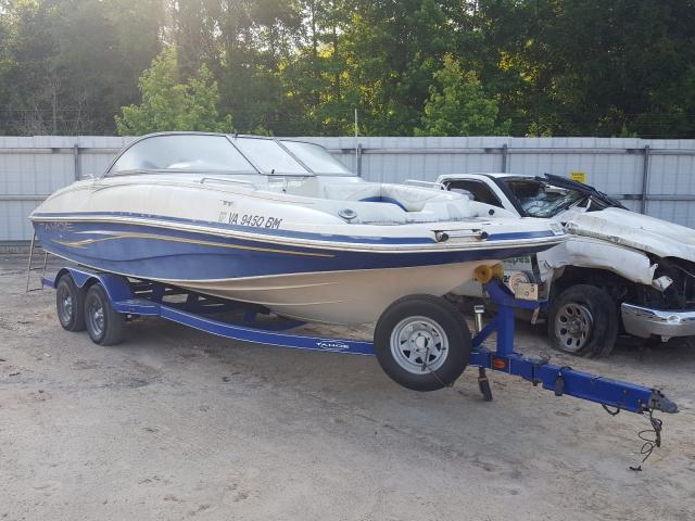 Salvage cars for sale from Copart Midway, FL: 2008 Tahoe Boat With Trailer