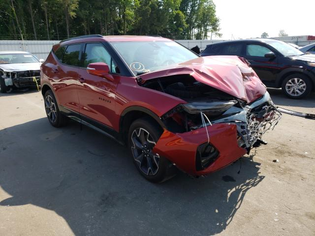 Salvage cars for sale from Copart Dunn, NC: 2019 Chevrolet Blazer RS