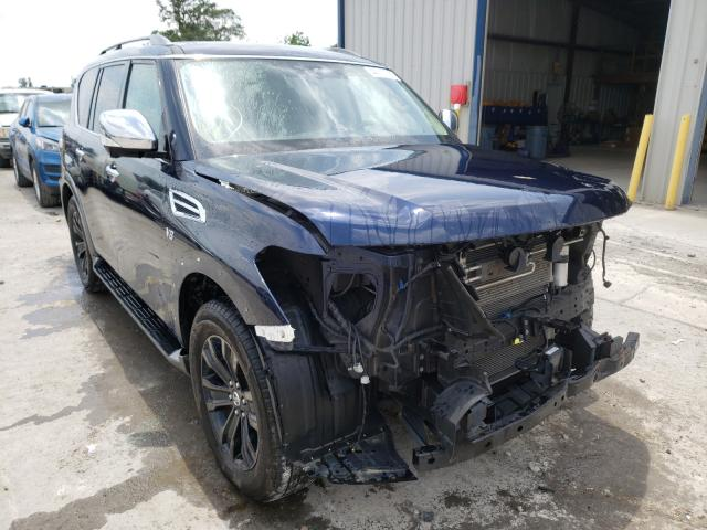 Salvage cars for sale from Copart Sikeston, MO: 2018 Nissan Armada PLA