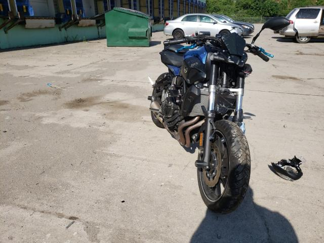 Salvage motorcycles for sale at Columbus, OH auction: 2017 Yamaha FZ07