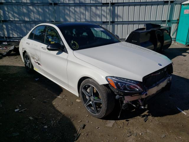 Salvage cars for sale from Copart West Mifflin, PA: 2017 Mercedes-Benz C 300 4matic