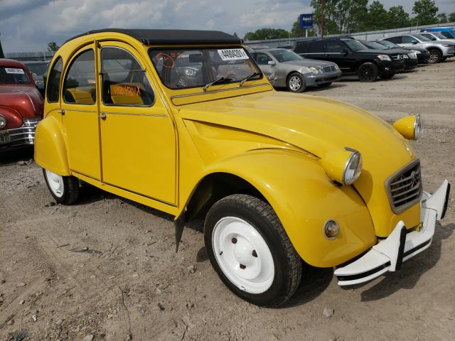 Salvage cars for sale from Copart Indianapolis, IN: 1980 Citroen 2-CV