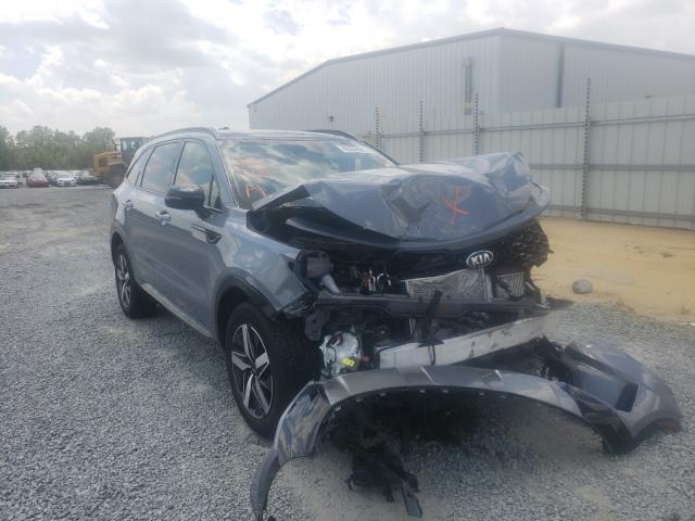 Salvage cars for sale from Copart Lumberton, NC: 2021 KIA Sorento EX