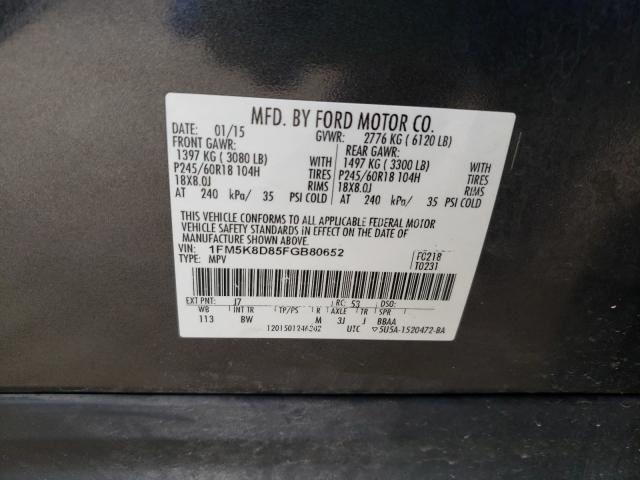 2015 FORD EXPLORER X 1FM5K8D85FGB80652
