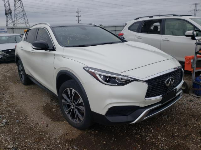 Salvage cars for sale from Copart Elgin, IL: 2019 Infiniti QX30 Luxe