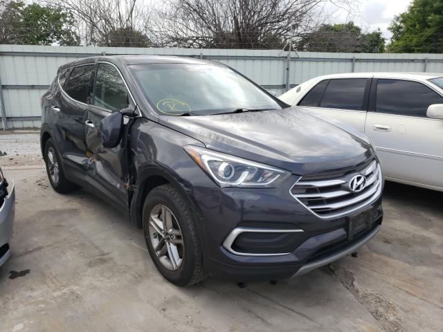 Salvage cars for sale from Copart Corpus Christi, TX: 2018 Hyundai Santa FE S