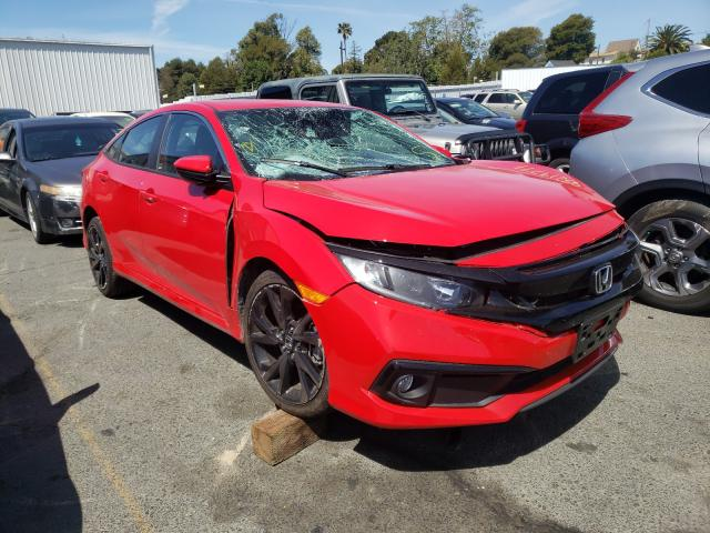 Salvage cars for sale from Copart Vallejo, CA: 2020 Honda Civic Sport