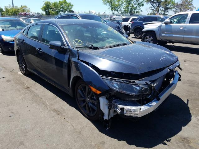 Salvage cars for sale from Copart Brookhaven, NY: 2021 Honda Civic EX