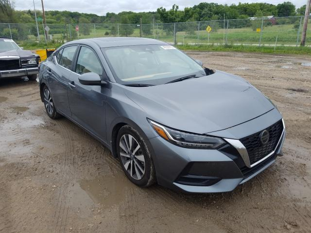 Salvage cars for sale from Copart Madison, WI: 2020 Nissan Sentra SV