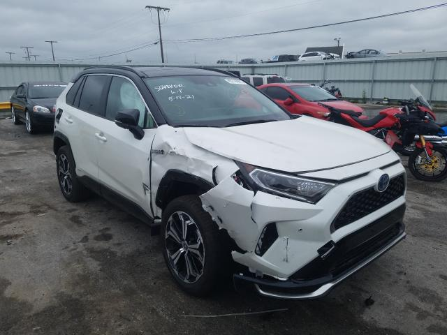 Salvage cars for sale from Copart Dyer, IN: 2021 Toyota Rav4 Prime