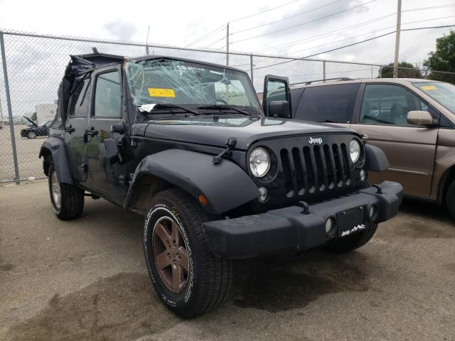 Salvage cars for sale at Moraine, OH auction: 2017 Jeep Wrangler U