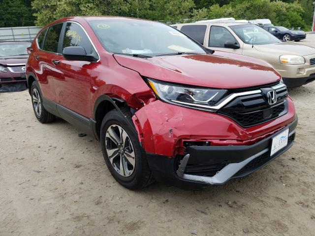 Salvage cars for sale from Copart Mendon, MA: 2021 Honda CR-V LX