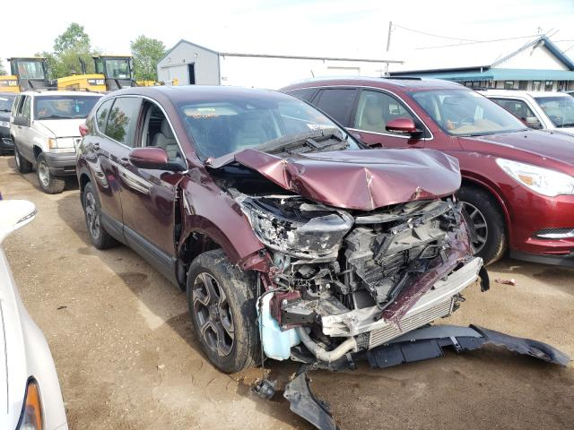 Salvage cars for sale from Copart Pekin, IL: 2018 Honda CR-V EX