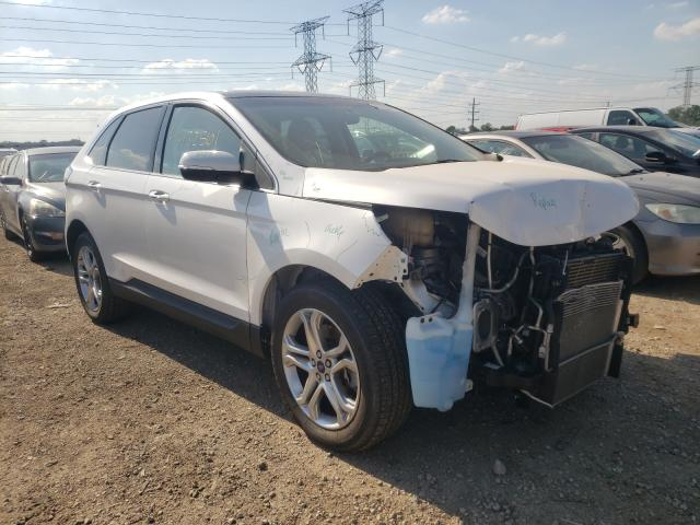 Salvage cars for sale from Copart Cudahy, WI: 2017 Ford Edge Titanium
