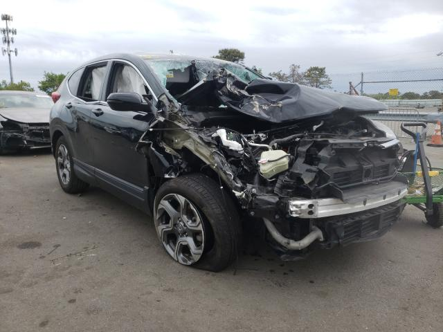 Salvage cars for sale at Brookhaven, NY auction: 2019 Honda CR-V EX