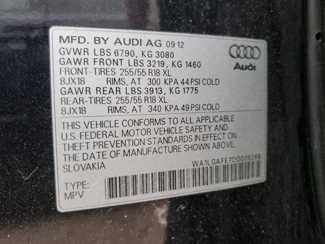 2013 AUDI Q7 PREMIUM WA1LGAFE7DD005268
