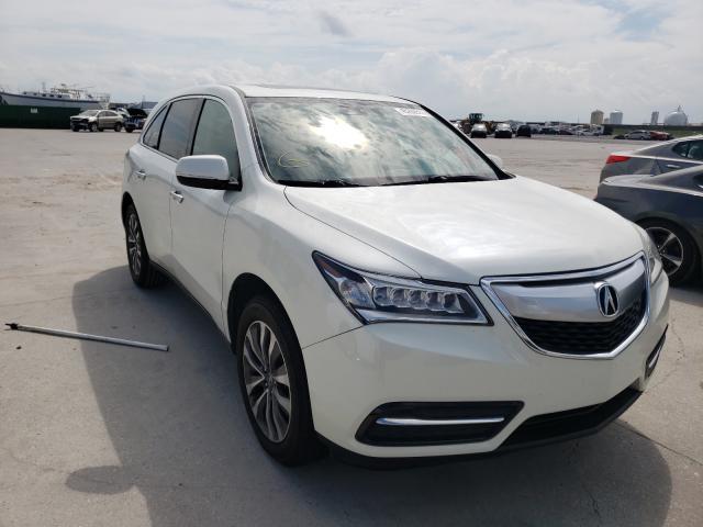 Acura Vehiculos salvage en venta: 2015 Acura MDX Techno