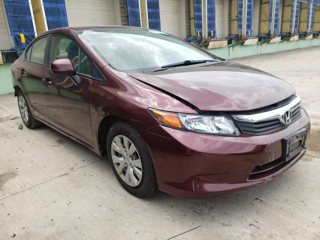 Salvage cars for sale from Copart Columbus, OH: 2012 Honda Civic LX